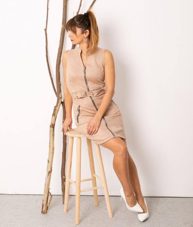 Vestido Plais - Beige