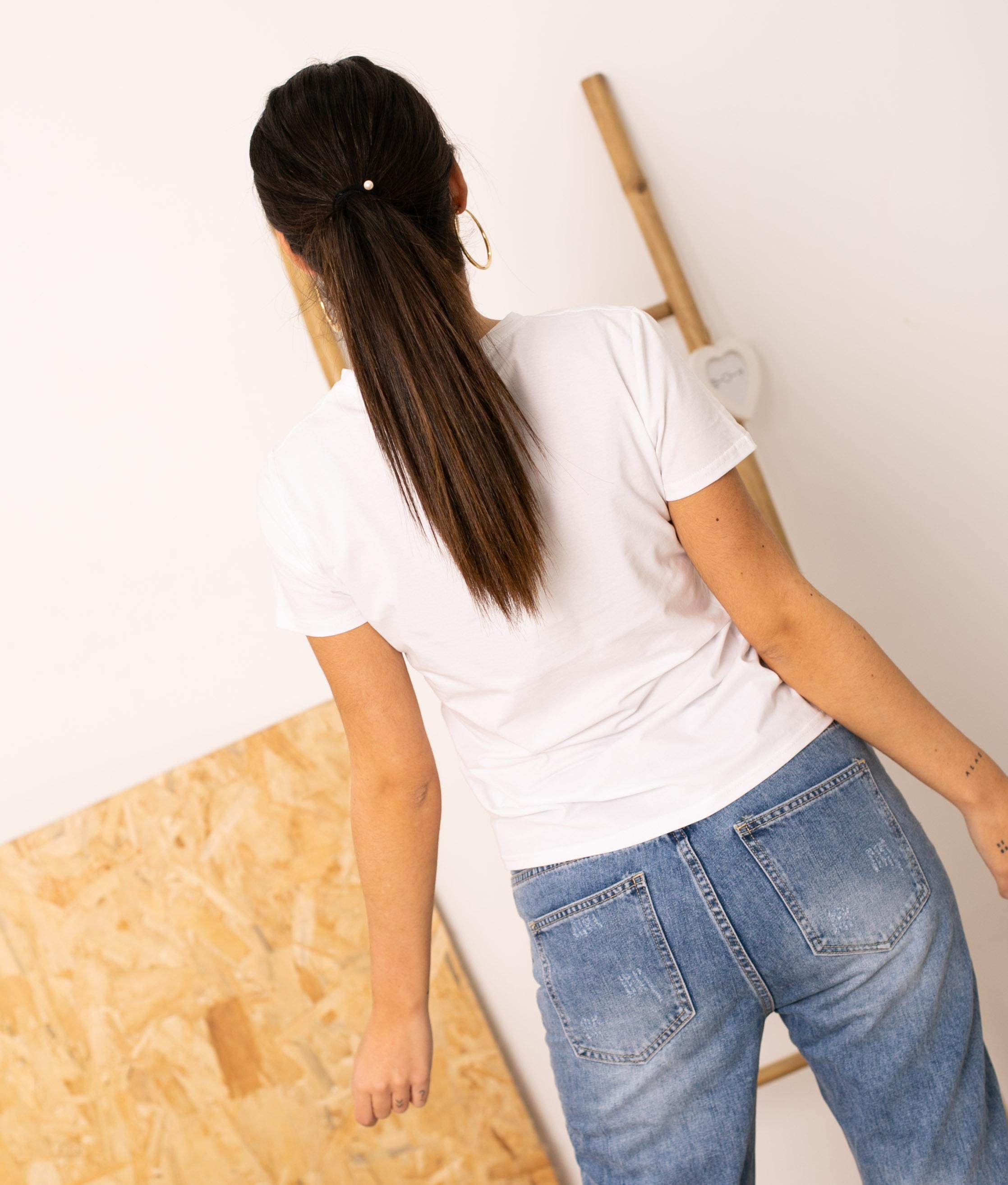 Camiseta Saturia - Blanco