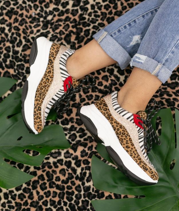 Sneakers Peser - Leopard/Noir