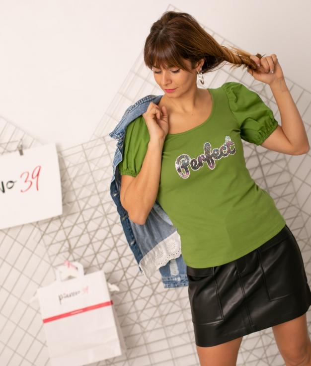 T-shirt Rutula - Vert