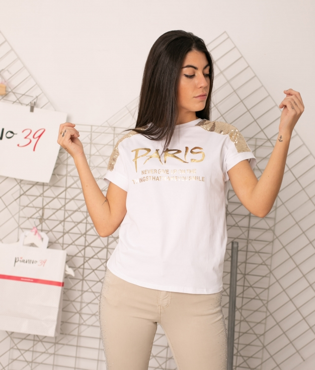 Camiseta Gunila - Blanco