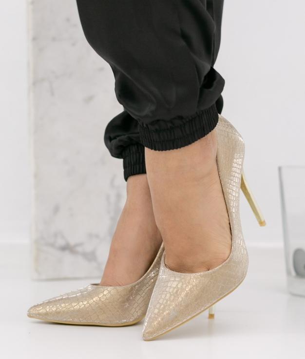 Zapato de Tacón Nilena - Oro