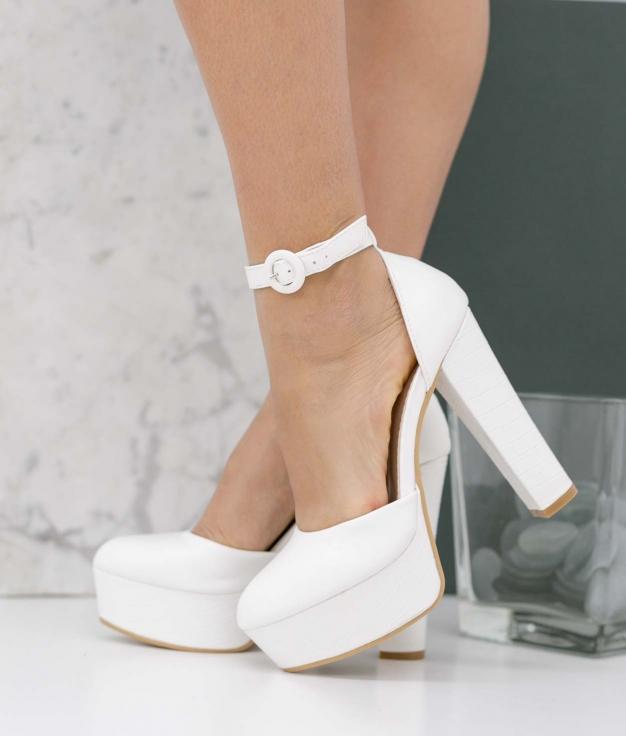 Zapato de Tacón Yanos - Blanco