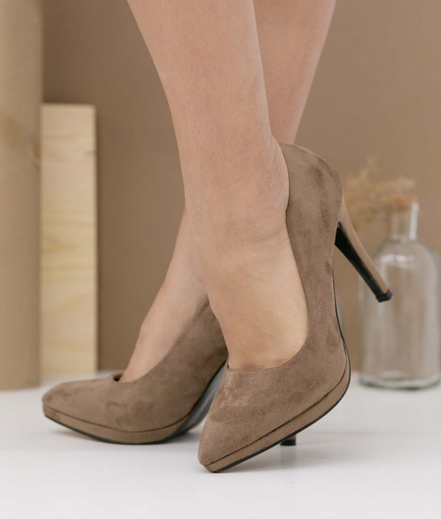 Zapato de Tacón Bruneza - Kaki