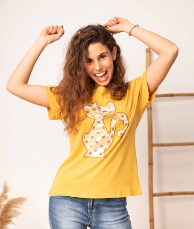 Camiseta Negundo - Amarillo