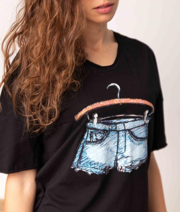 Camiseta Guindo - Negro
