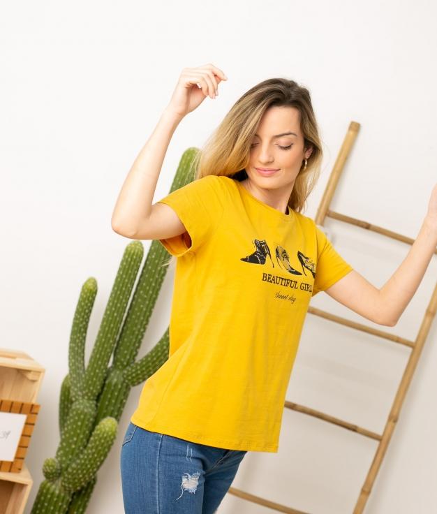 Camiseta Tumga - Amarillo