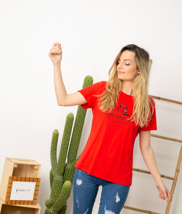 Camiseta Tumga - Rojo