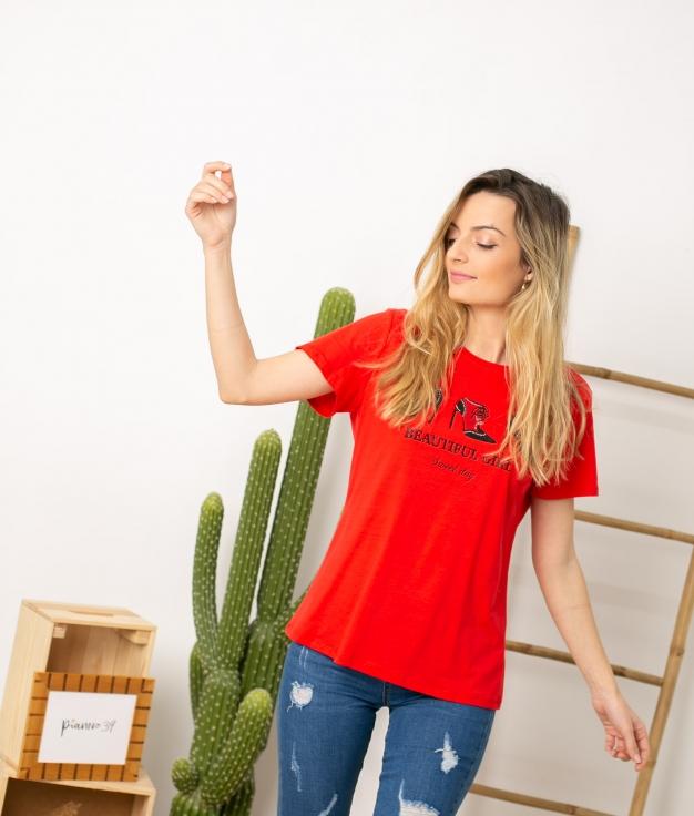 Camiseta Tumga - Vermelho