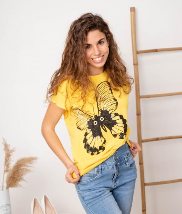 Camiseta Punis - Amarelo