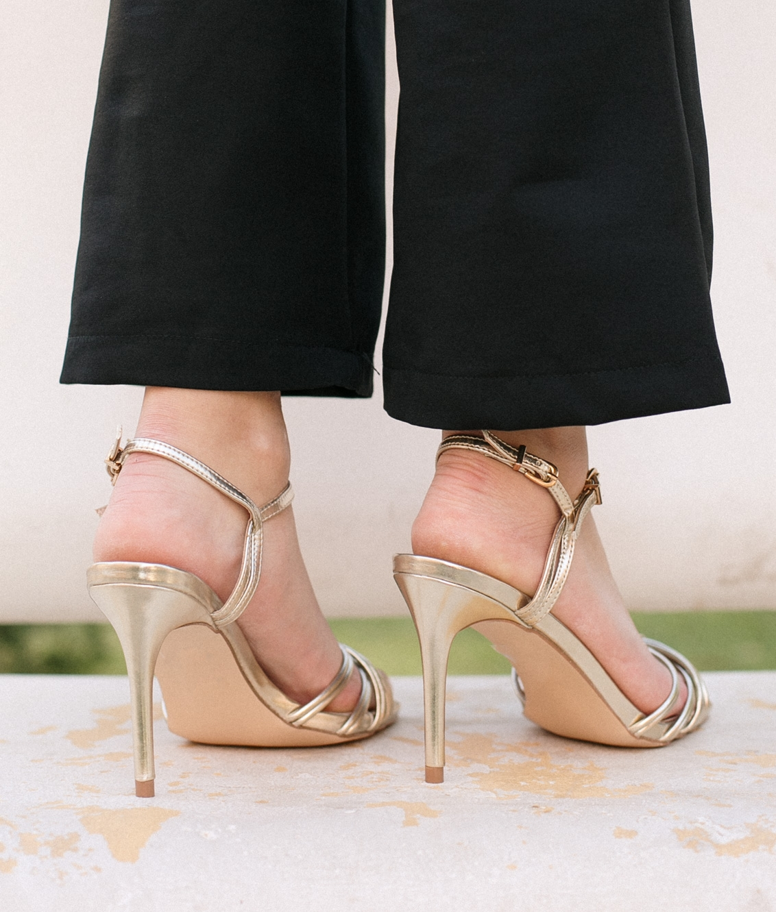 Sandalia de Tacón Eglans - Oro