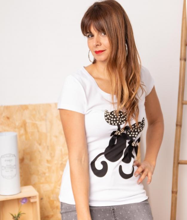 Camiseta Pineli - Blanco