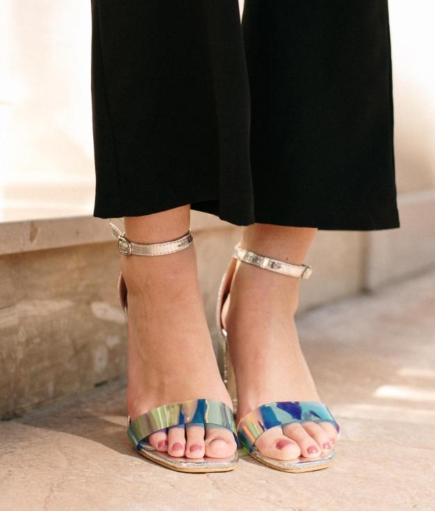 Sandália de Salto Fler - Plata