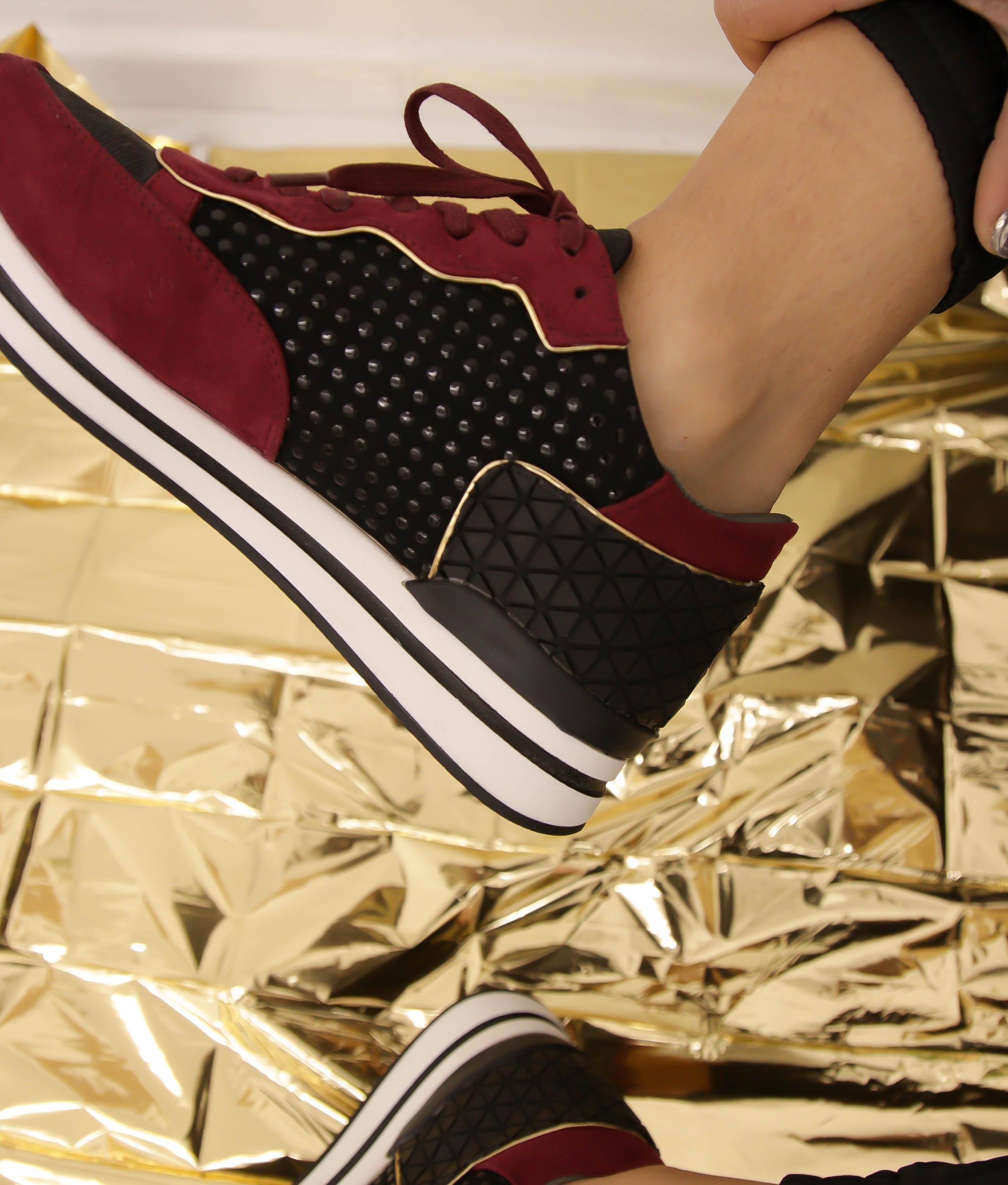 Sneakers Rayon - Negro/ Granate