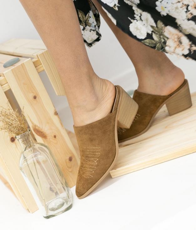 Zapato Mulé Caronte - Camel