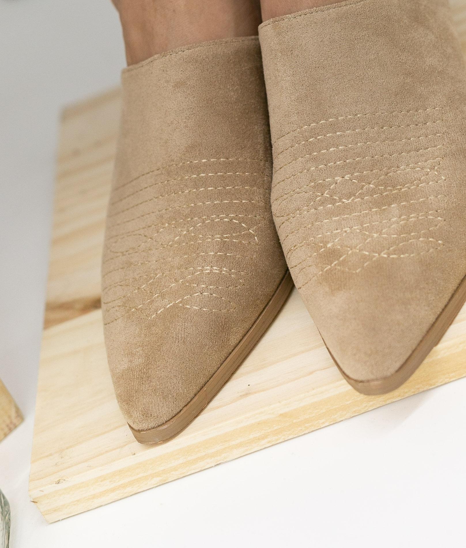 Zapato Mule Caronte - Bege