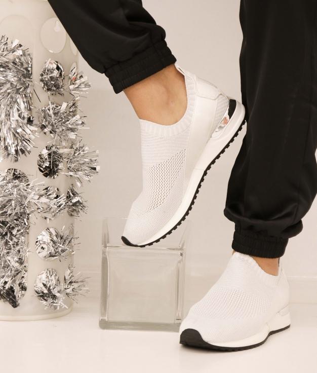 Sneakers Benbi - Argent/Blanc
