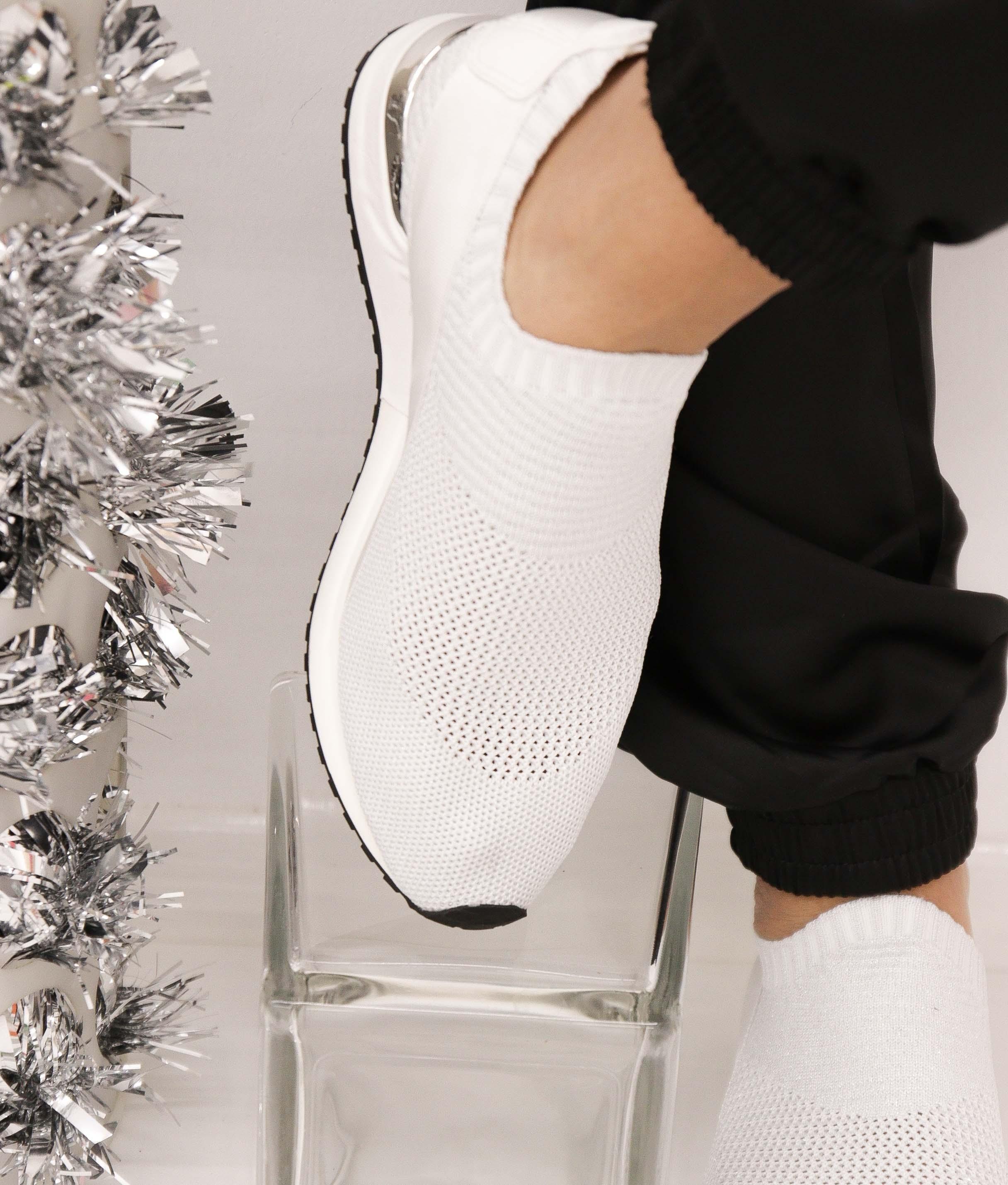 Sneakers Benbi - Plata/Blanco