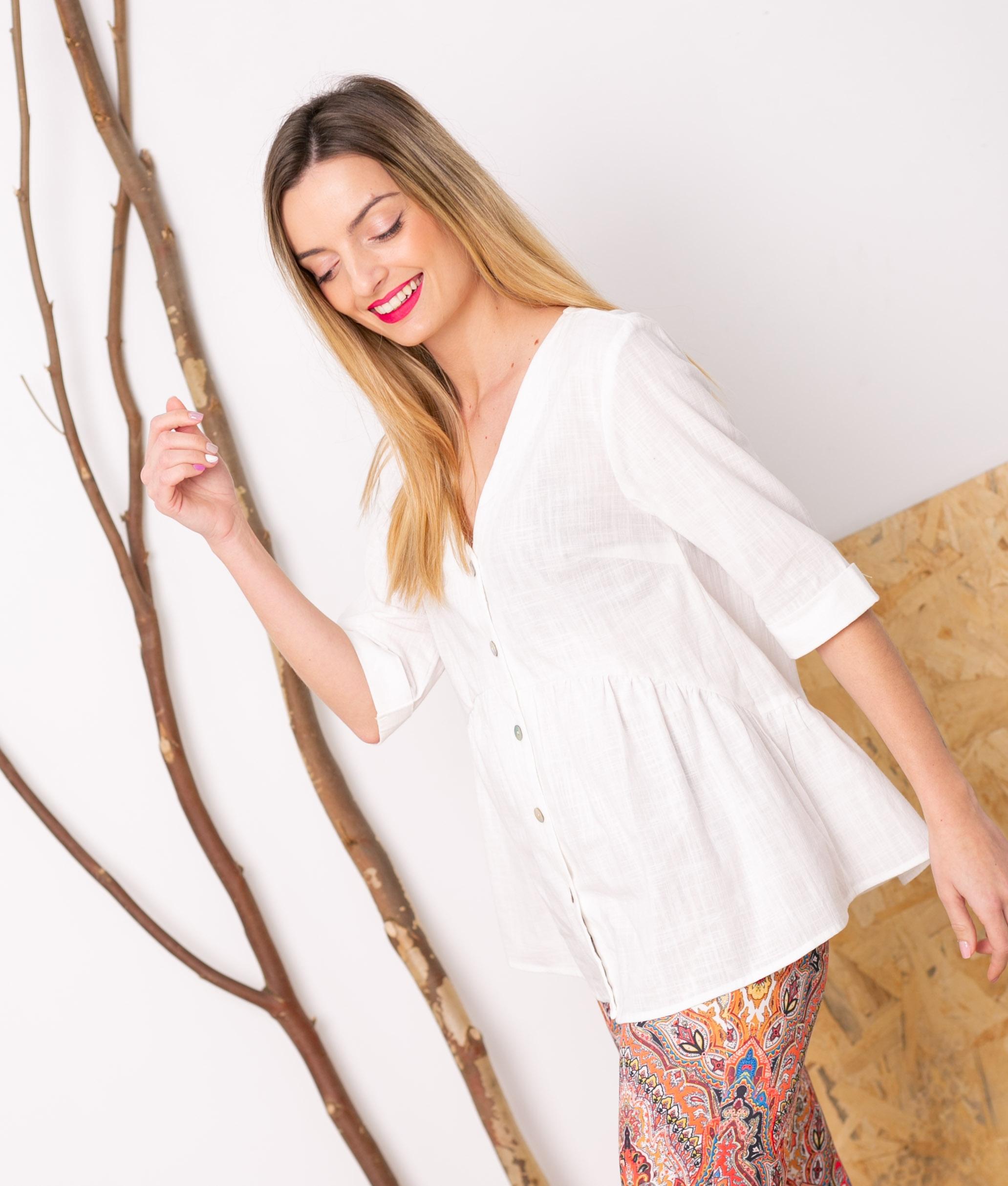 Camiccetta Marien - Blanco