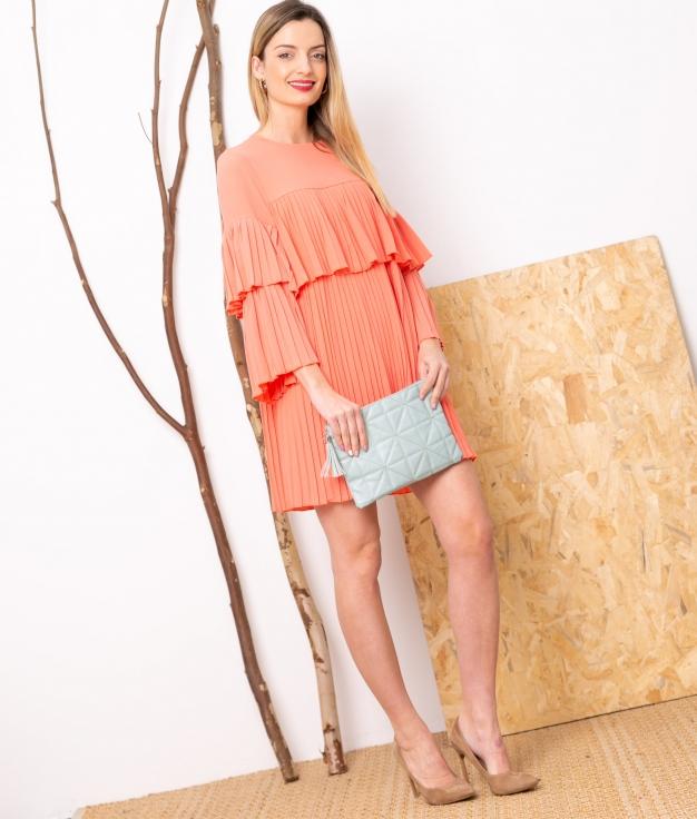 Vestido Noara - Coral