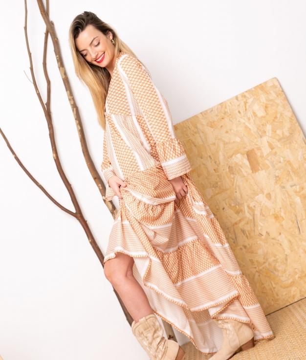 Vestido Bansi - Mostarda