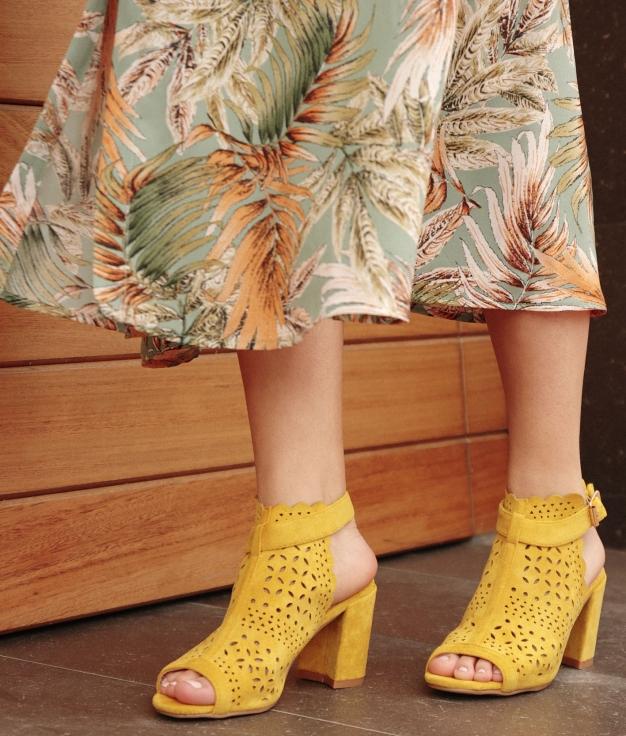 Sandalia de Tacón Folane - Amarillo