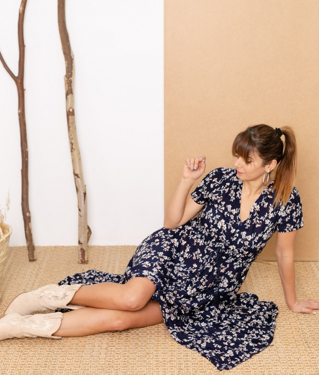 Vestido Mikini - Azul