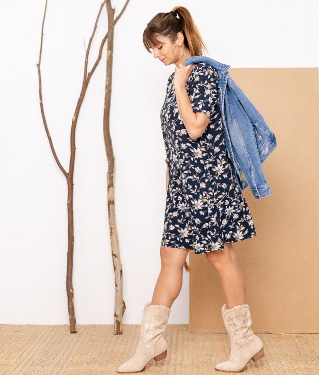 Vestido Tecor - Azul Marino
