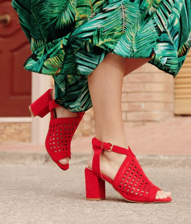 Sandalia de Tacón Pilne - Rojo