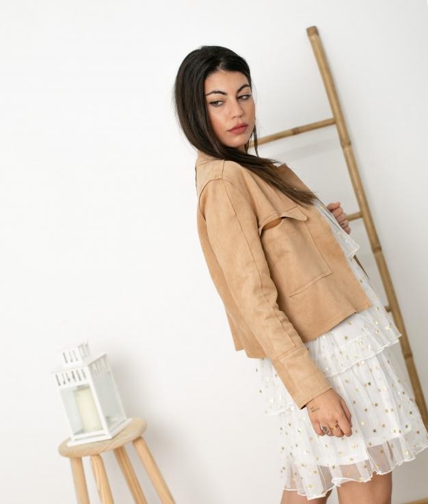 Jacket Kamiz - Camel
