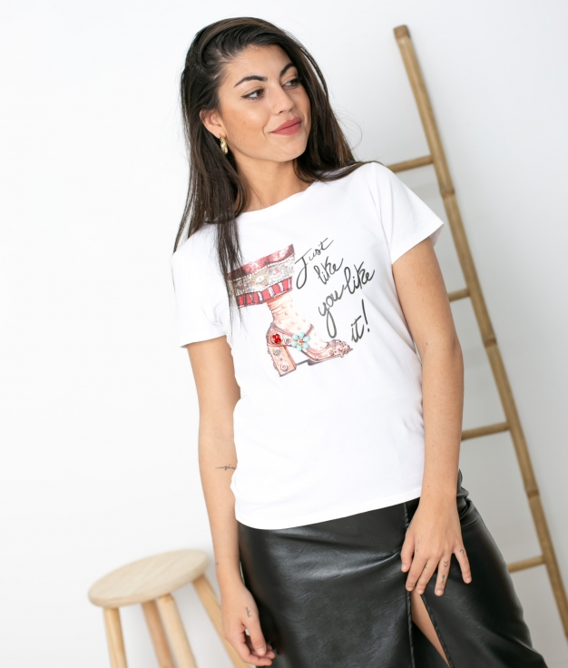 Camiseta Cafin - Blanco
