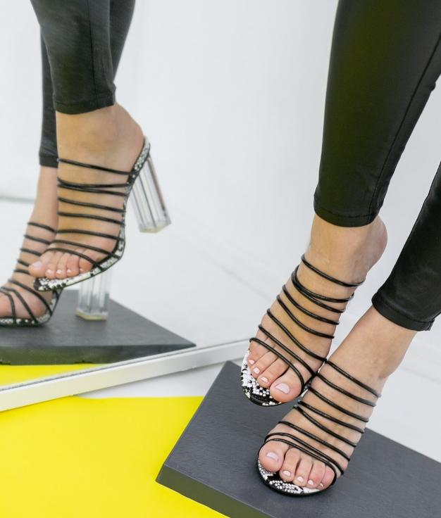Sandalia de Tacón Bonarlo - Negro
