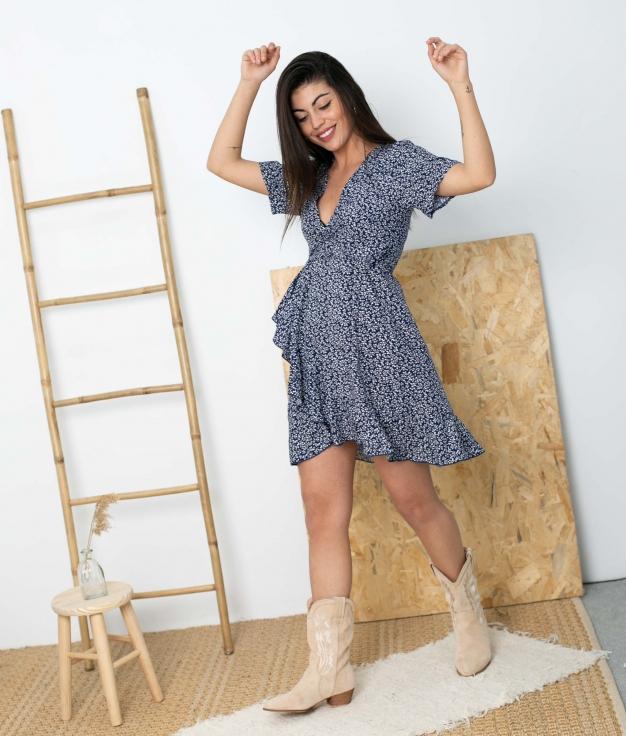 Vestido Tamis - Azul