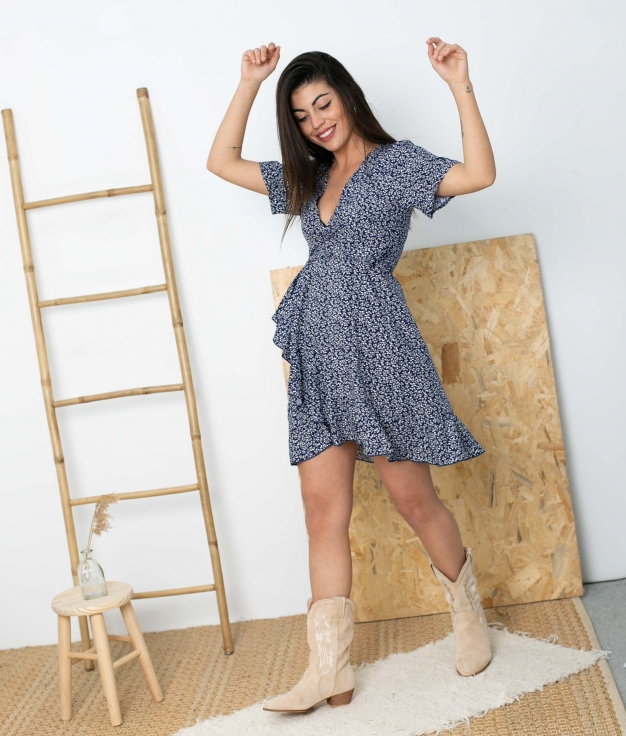 Vestido Tamis - Bleu