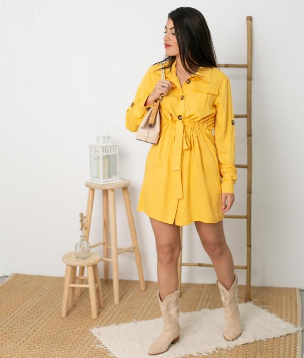 Vestido Kakeli - Amarillo