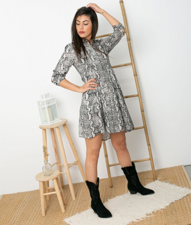 Vestido Calian - Gris