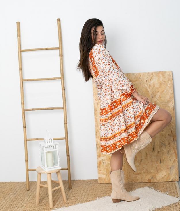 Vestido Tesori - Naranja