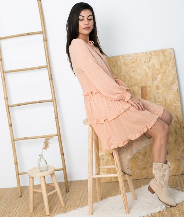 Vestido Nolat - Rosa