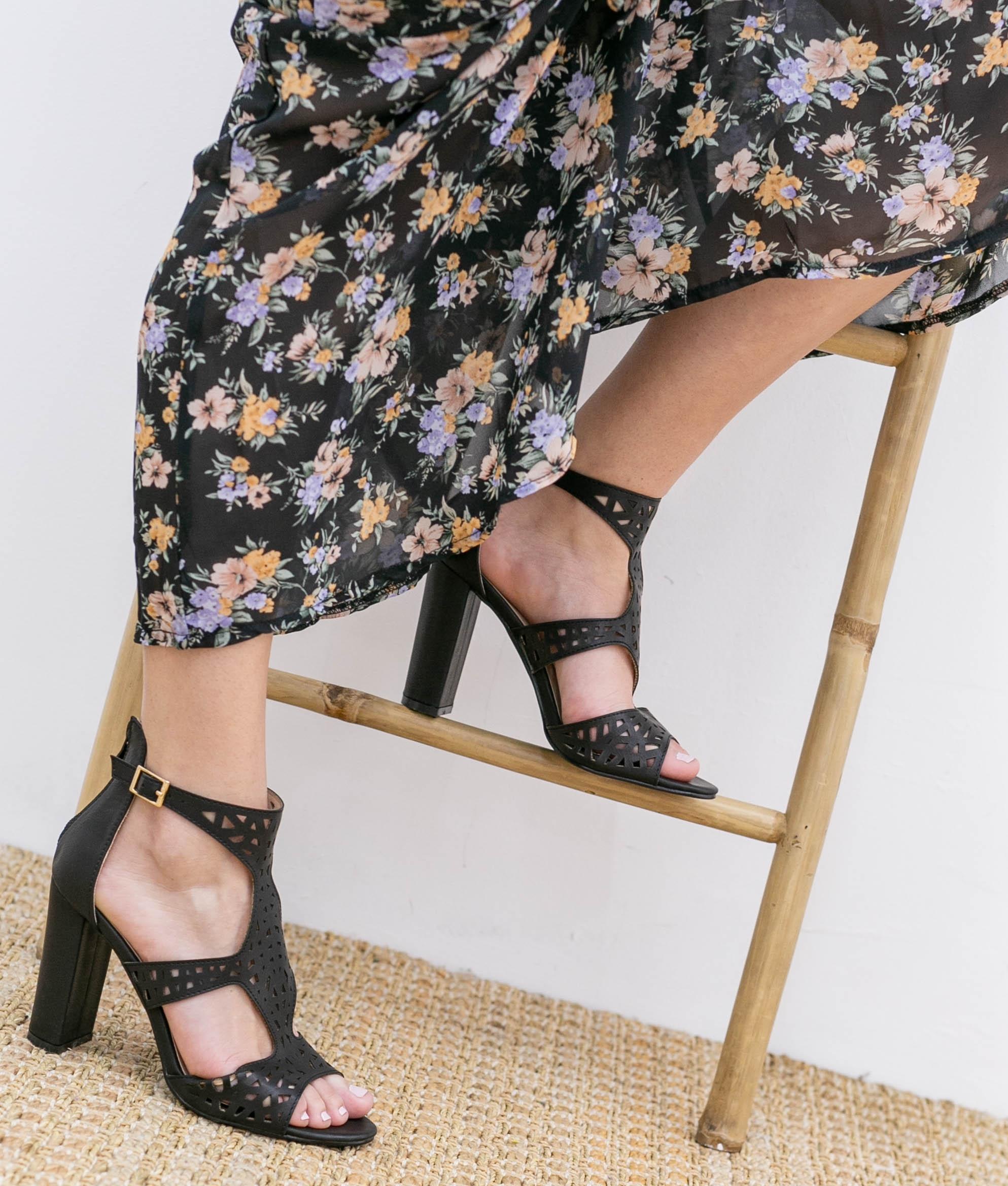 Sandália de Salto Embis - Preto