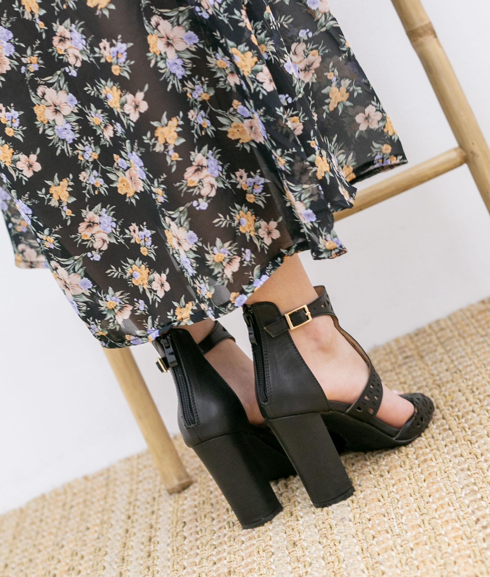 High Sandal Embis - Black