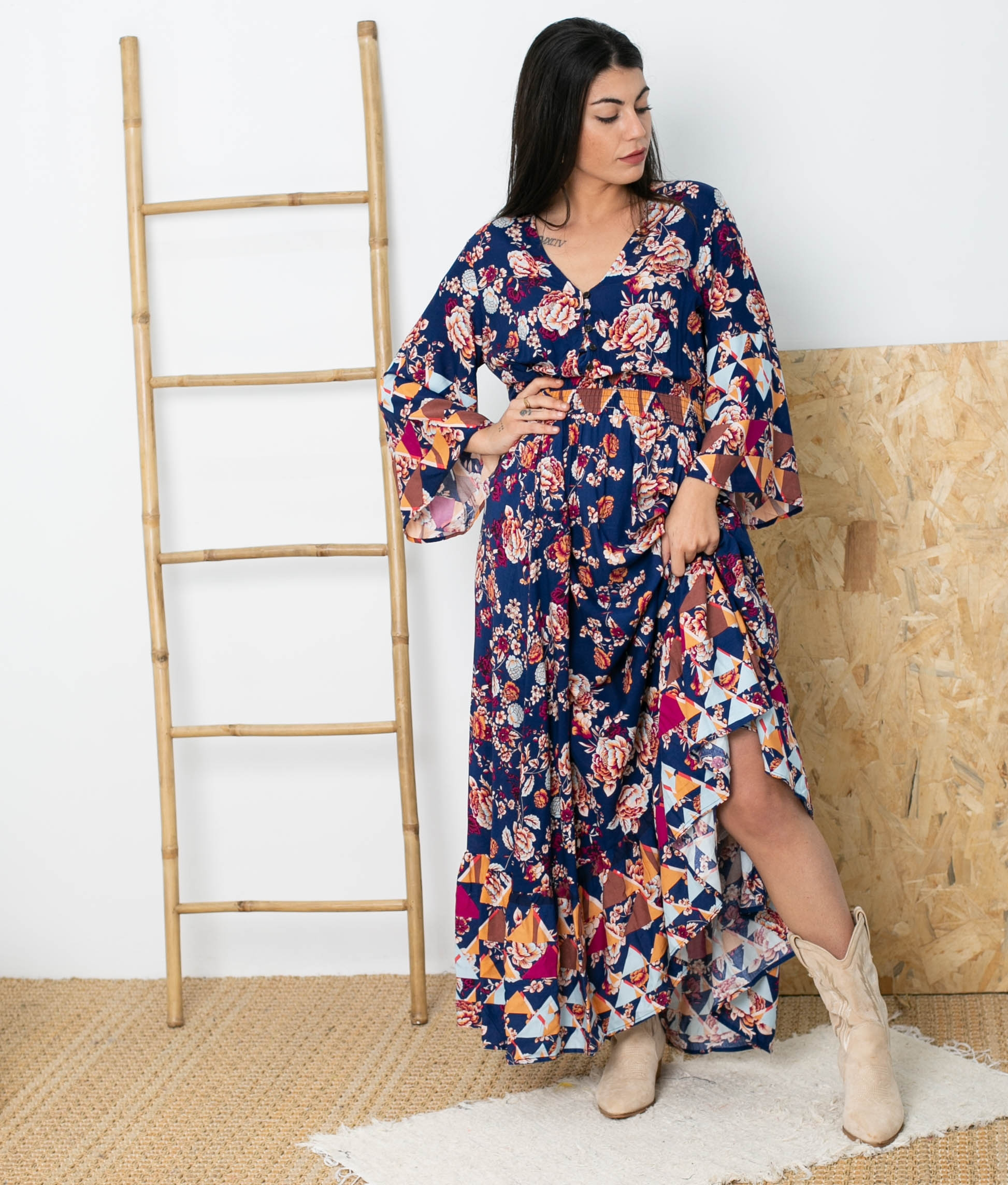 Vestido Manae - Azul