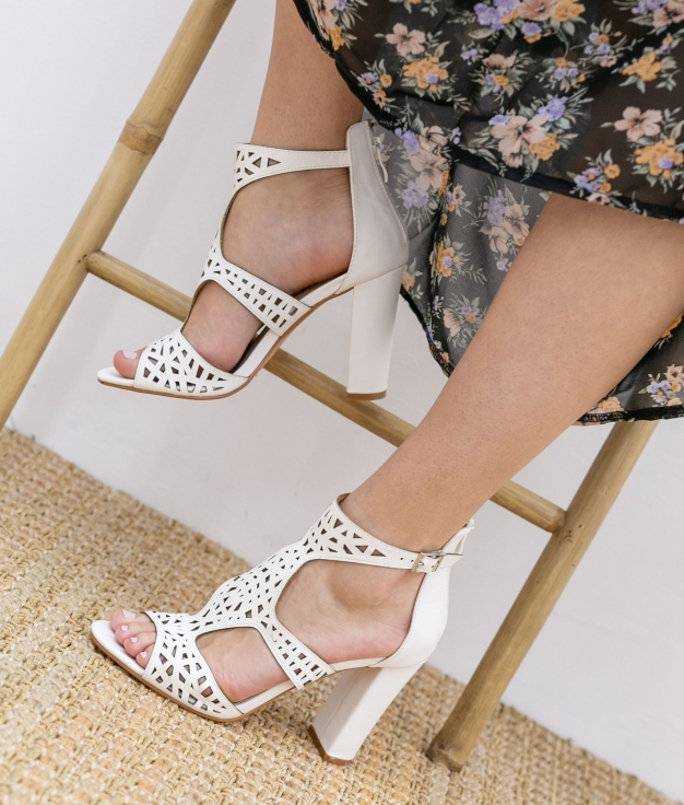 High Sandal Embis - White