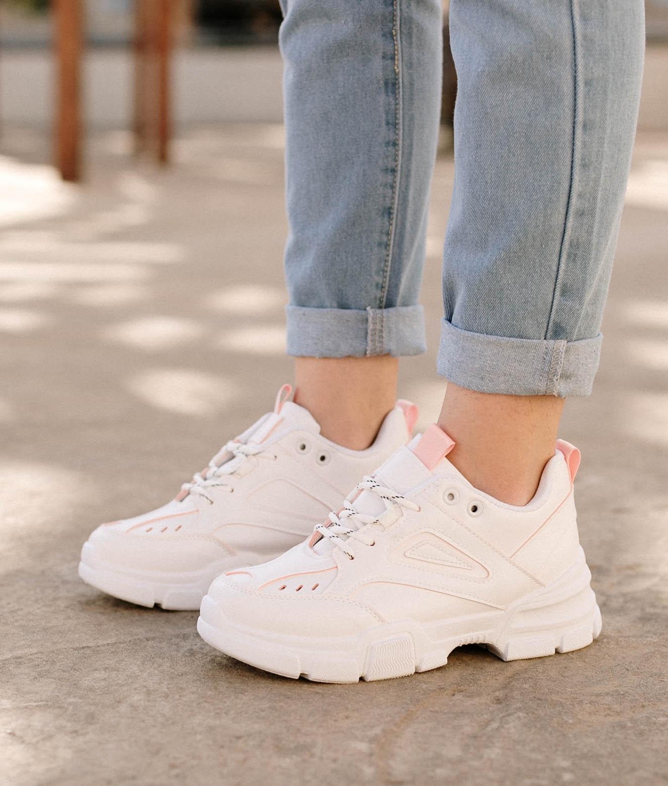 Sneakers Turini - Branco/Rosa