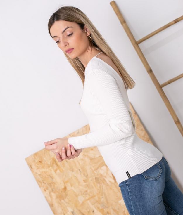 Sweater Sileda - White