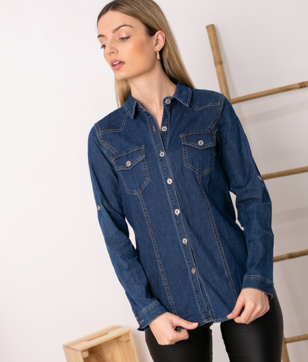 Camisa Lups - Denim