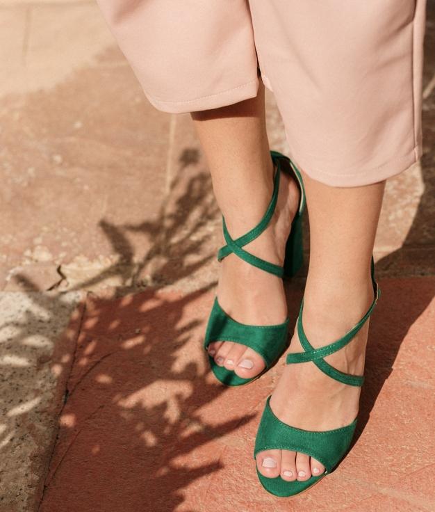 High Sandal Barny - Green