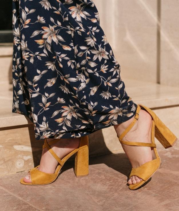 High Sandal Barny - Yellow