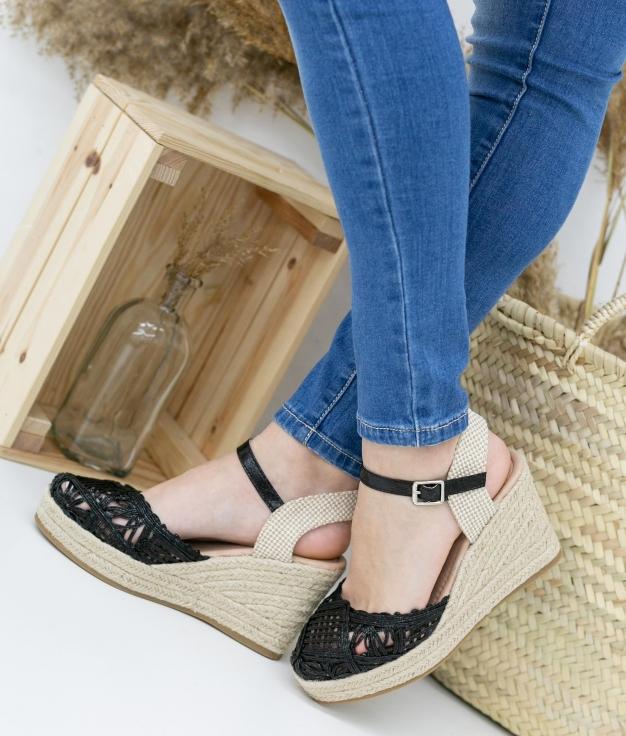 Wedge Heel Benede - Black