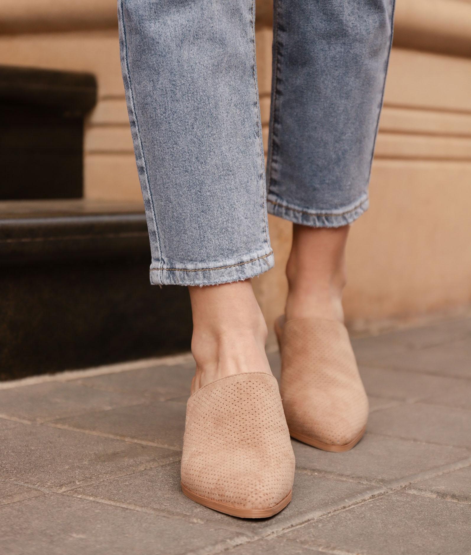 Zapato Mulé Ladin - Beige