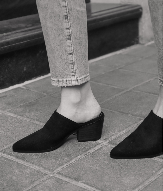 Zapato Mulé Ladin - Black